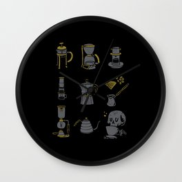 Coffee Equipment Wall Clock