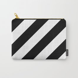 Black diagonal striped pattern Carry-All Pouch