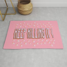 Keep Killing It Motivational Star Quote Rug