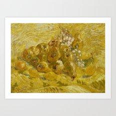 Quinces, Lemons, Pears and Grapes by Vincent van Gogh Art Print