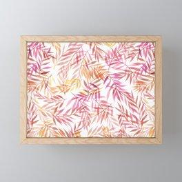 Watercolour Ferns   Pink and Yellow Framed Mini Art Print