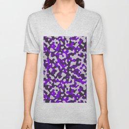 Violet Camouflage pattern Unisex V-Neck
