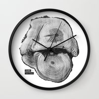 twin peaks Wall Clocks featuring Twin Peaks by Emanuel Lindqvist
