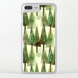 Forest 1 Clear iPhone Case
