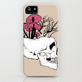 Fungi Skull iPhone Case