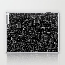 All Tech Line INVERTED / Highly detailed computer circuit board pattern Laptop & iPad Skin