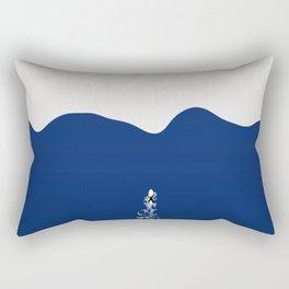 Lone Surfer | Aerial Illustration Rectangular Pillow