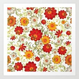Art Flowers V5 Art Print