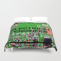 engineer Duvet Covers featuring Electrical Engineer by EEShirts
