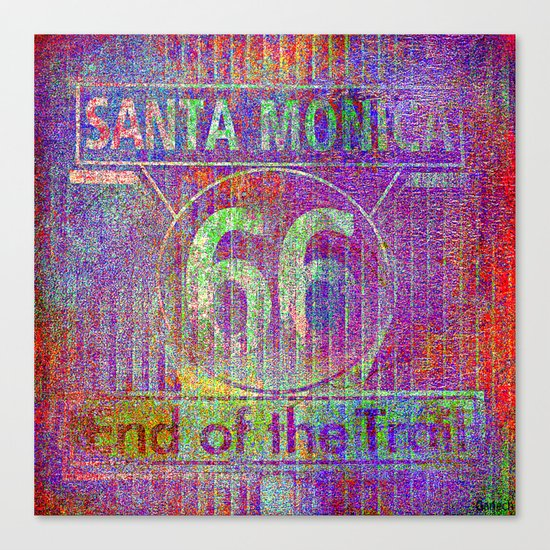 Santa Monica, end of the trail  Canvas Print