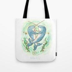 Narwaltz - Narwhal Valentine Tote Bag