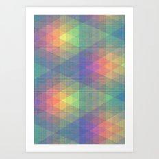 Diamond Spectrum Art Print