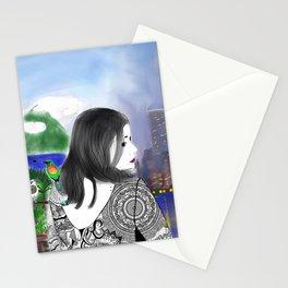 c'est moi et mon monde Stationery Cards