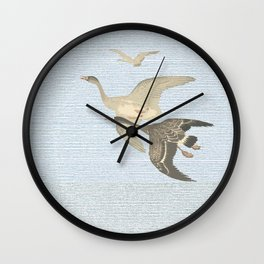 Nothing to match the flight of wild birds flying Wall Clock