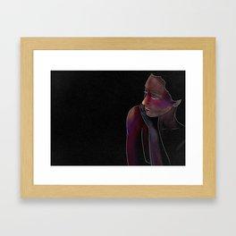 Woman on Black #3 Framed Art Print