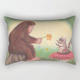 Flower Them With Kindness - Baby Bigfoot Rectangular Pillow