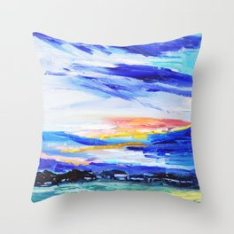 Evening on the farm Throw Pillow