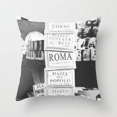 Art tiles in Rome Throw Pillow
