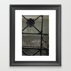 Fence Framed Art Print