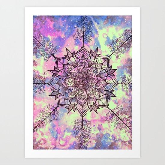 Galaxy Tree Mandala Art Print