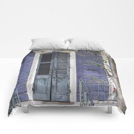 New Orleans Blue Marigny Door Comforters