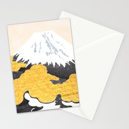 Fuji mountain in oriental style Stationery Cards