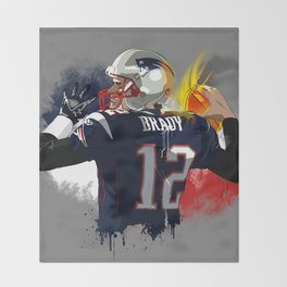 Tom Brady Throw Blanket