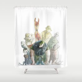 Hillbillies and aliens Shower Curtain