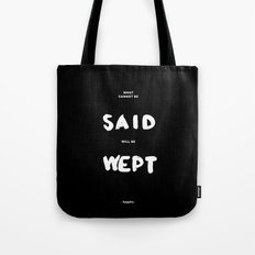 What can not be said will be wept - Sappho Tote Bag