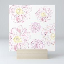 Abstract Flowers #society6 #buyart Mini Art Print