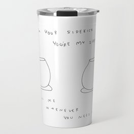 Best Friends Coffee Cups -  kitchen illustration cafe tea family Travel Mug