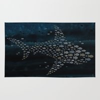 shark Area & Throw Rugs featuring Shark! by Claudine Gevry
