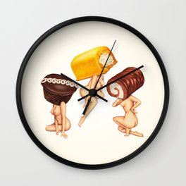 Hostess Cake Girls Wall Clock