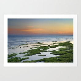Green coast. Mediterranean sea. Art Print
