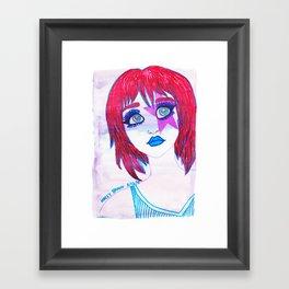 Redhead Star Girl Framed Art Print