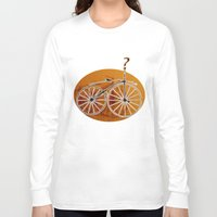bike Long Sleeve T-shirts featuring Bike by CrismanArt