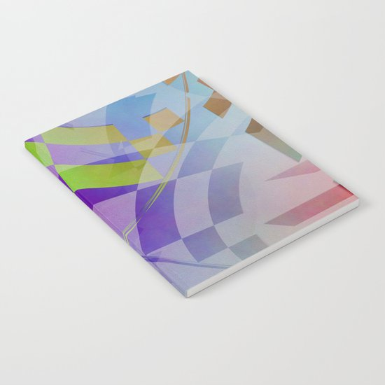 Multicolored abstract no. 68 Notebook