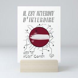 Paris je t'aime Mini Art Print
