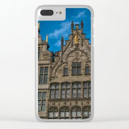 antwerp town square Clear iPhone Case