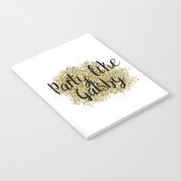Party like Gatsby - golden jazz Notebook