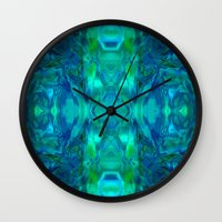 stained glass Wall Clocks featuring Stained-glass.  by Assiyam