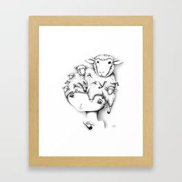Merino Mutation Framed Art Print