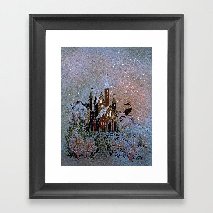 Magic Castle Gerahmter Kunstdruck