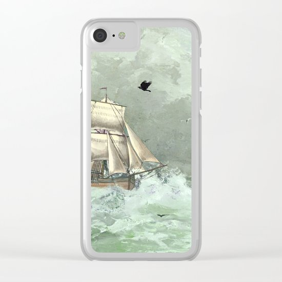 Breaking waves still Clear iPhone Case