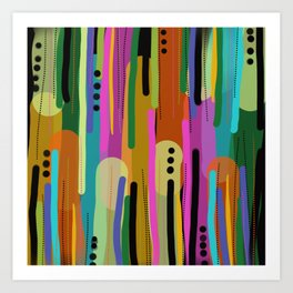 Forest of  Colors Art Print