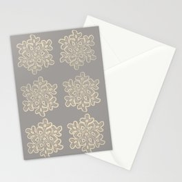 Crochet snowflakes pattern Stationery Cards
