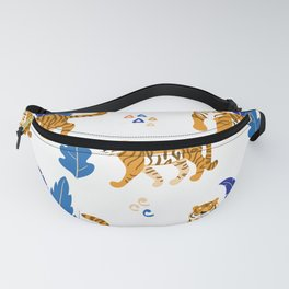 Tiger Neck Gaiter Cool Cats and Blue Plants Tiger Neck Gator Fanny Pack