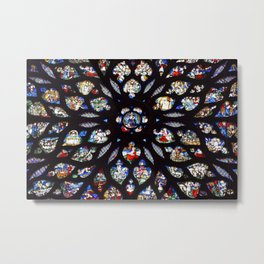 Stained glass sainte chapelle gothic Metal Print