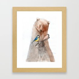 Bear, Hare and Tit Framed Art Print