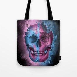 skull black art decor Tote Bag